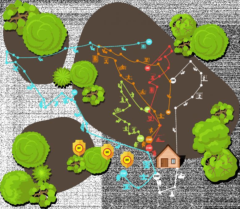 Zipit: Lough Key Course Map