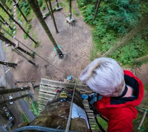 Zipit Forest Adventures location: Tibradden Wood, Dublin